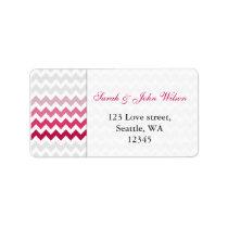chevron Pink Ombre  return address label