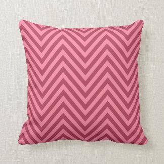 Chevron - pink rose pillow