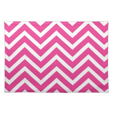 USA Themed Chevron  pink white cool Placemat