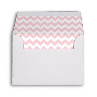 Chevron Pink & White Lined Envelope