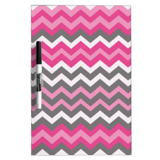 Chevron Pinks,Grays, and White. Dry-Erase Board