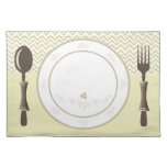 chevron place setting placemats