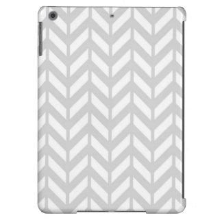 Chevron plateado 4 funda para iPad air