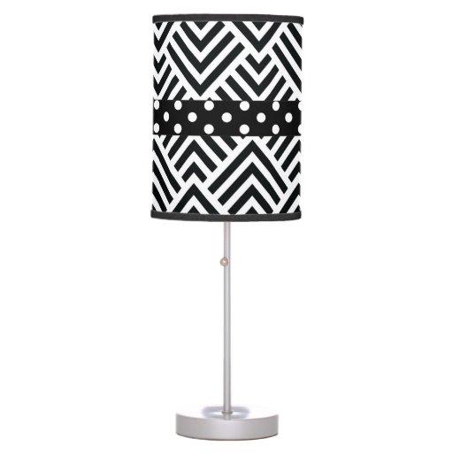 Chevron Polka Dot Modern Geometric Chic Lamp Zazzle