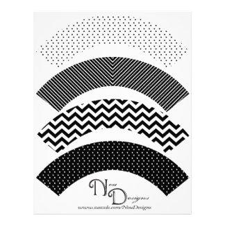 Chevron, Polka Dot, Stripe Print Cupcake Wrappers Flyer