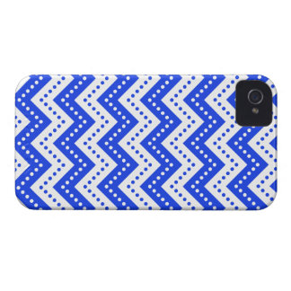 Chevron Polka Dots 7 Blue iPhone 4 Cover