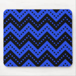 Chevron Polka Dots 7 Blue Mouse Pad