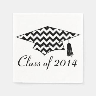 Chevron Print Custom Graduation Napkins Disposable Napkin