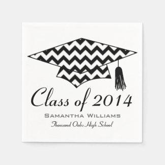 Chevron Print Custom Name Graduation Napkins Paper Napkins