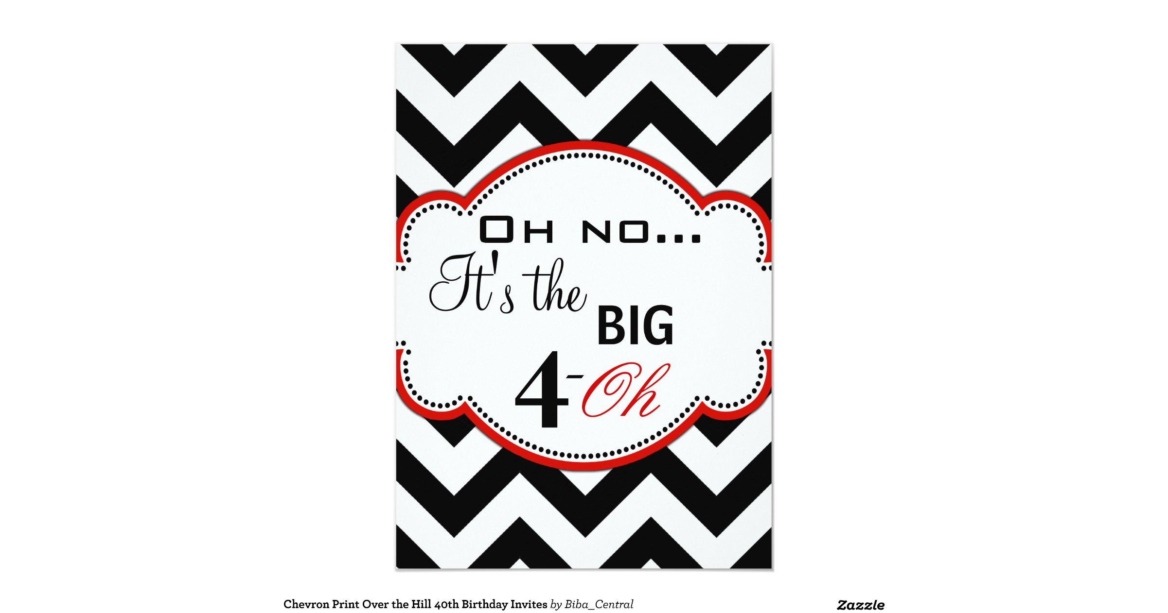 chevron_print_over_the_hill_40th_birthday_invites