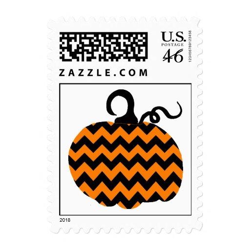 Chevron Pumpkin Halloween Stamps