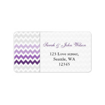 chevron purple Ombre  return address label