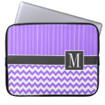 Chevron púrpura de moda mangas portátiles