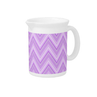 Chevron púrpura dentado jarra para bebida