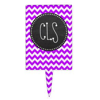 Chevron púrpura eléctrico; zigzag; pizarra palillos de tarta