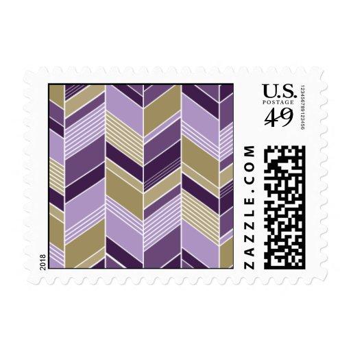 - Chevron - púrpura geométrica y oro Sello