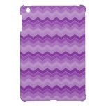 Chevron púrpura se descoloró iPad mini protector