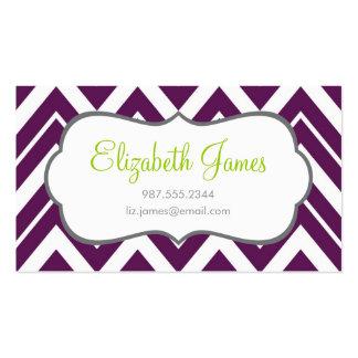 Chevron púrpura tarjetas de visita