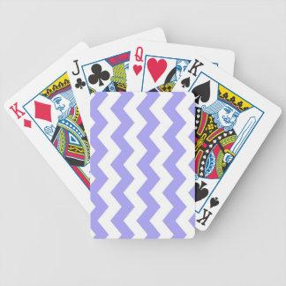 Chevron púrpura y blanco baraja de cartas bicycle