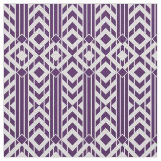 Chevron púrpura y gris de lujo raya la tela telas
