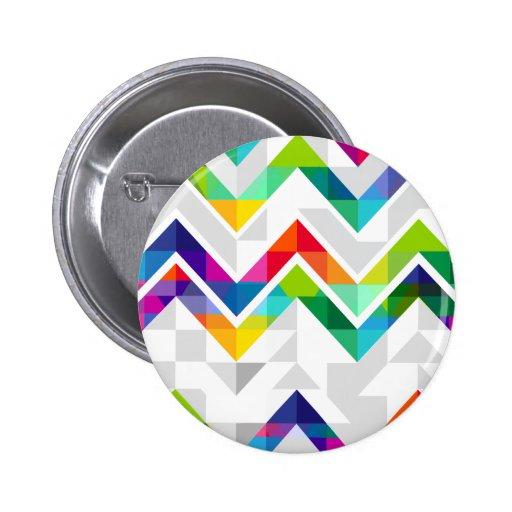 Chevron Rainbow Button