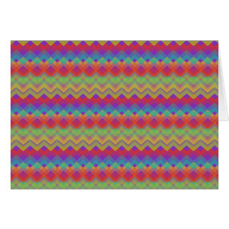 Chevron Rainbow Pattern Card