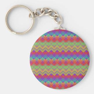 Chevron Rainbow Pattern Keychain