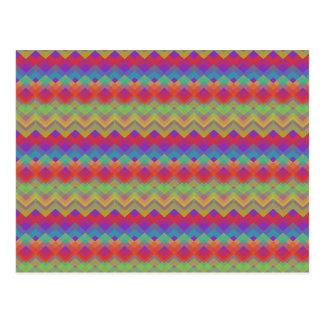 Chevron Rainbow Pattern Postcard