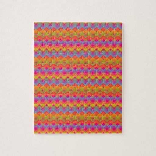 Chevron Rainbow Pattern Puzzles