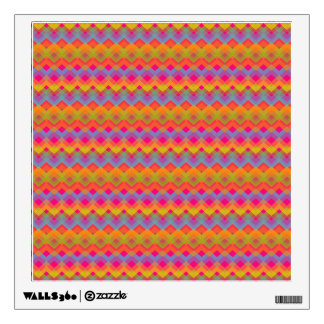Chevron Rainbow Pattern Wall Sticker