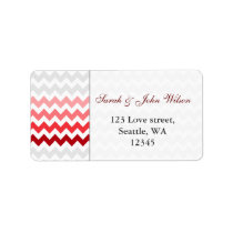 chevron red Ombre  return address label