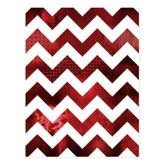 Chevron Red Postcard