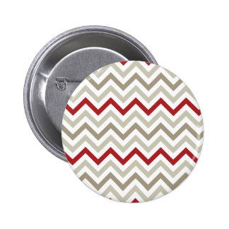 Chevron Red Sand Pinback Buttons