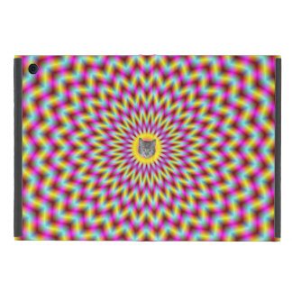 Chevron Rings in Pink Yellow and Blue + or - Cat Cover For iPad Mini