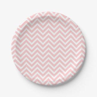 Chevron rosa claro y blanco
