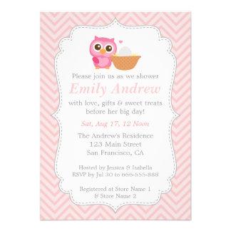 Chevron rosado fiesta de bienvenida al bebé linda