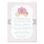 Chevron rosado, princesa Carriage, fiesta de Invitacion Personal