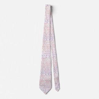 Chevron rosado y blanco de la cebra corbatas