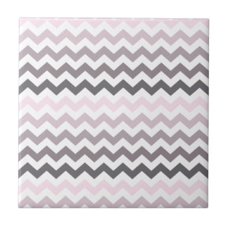 Chevron rosado y gris tejas  cerámicas