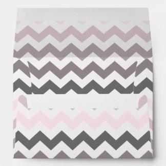 Chevron rosado y gris