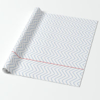 Chevron Ruled Notebook Paper - Wrapping Paper