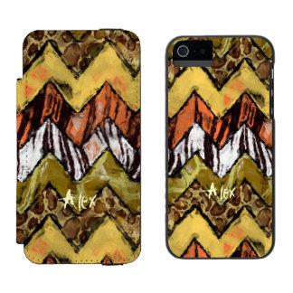 Chevron Safari Wallet Case For iPhone SE/5/5s