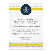 chevron, sand dollar, mod beach wedding invites by mgdezigns
