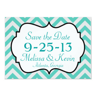 Chevron Save the Date Card