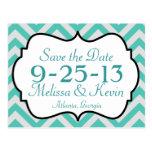 Chevron Save the Date Postcard