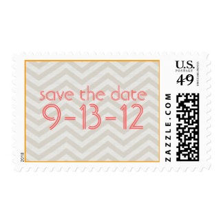 Chevron Save the Date Stamp