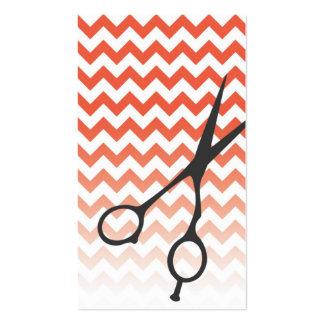 Chevron Shears Barber/Cosmetologist Business Card