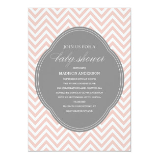 CHEVRON SHOWER | BABY SHOWER INVITATIONS