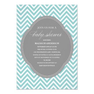 CHEVRON SHOWER   BABY SHOWER INVITATIONS