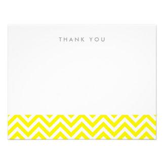 Chevron simple amarillo le agradece las tarjetas d